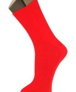 8173 Kiristämätön merinovillasukka punainen